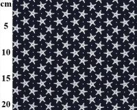 Cotton Poplin Starfish Navy