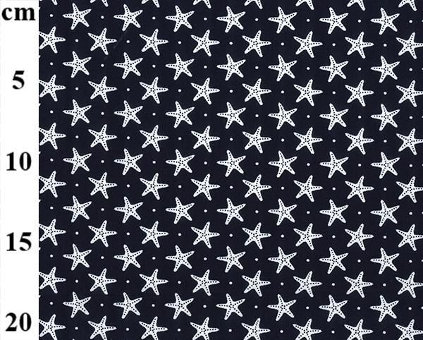 Cotton Poplin Starfish Navy