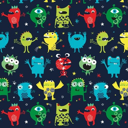 Dashwood Studio Playtime Cotton Fabric Monsters