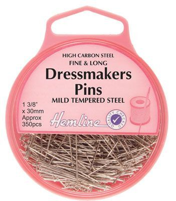 Hemline Dressmaking Pins 0.60mm x 30mm apx 350pcs