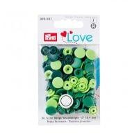 Prym Love Snap Fasteners 12.4mm 30pcs Greens