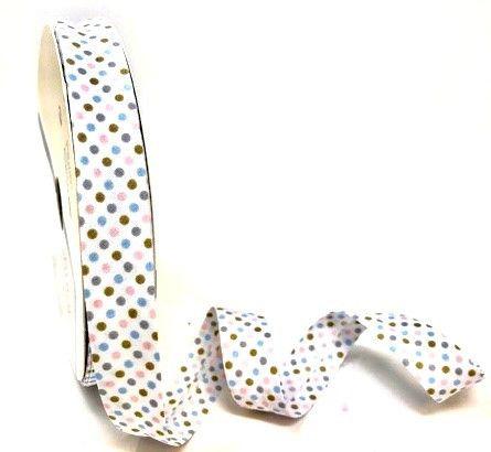 18mm Pastels Polka Dot Polycotton Bias Binding