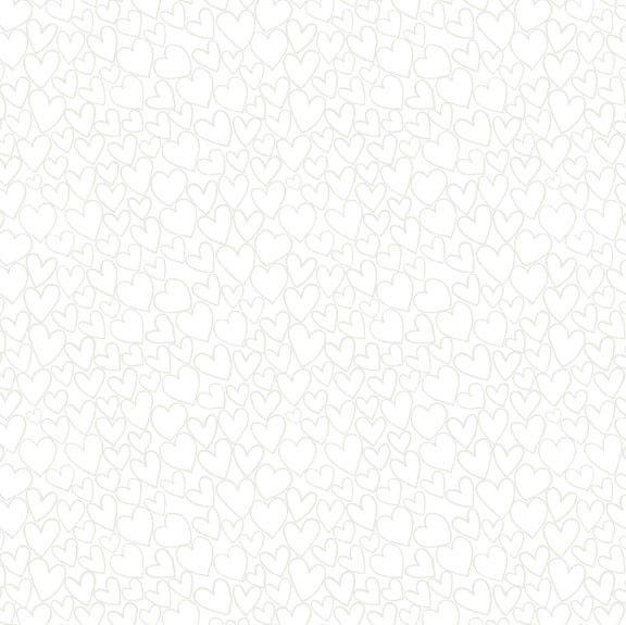 Makower Essentials Tiny Dot White On White Cotton Fabric