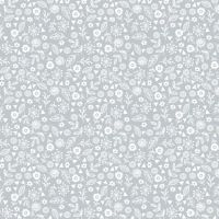 Makower Doodle Ditzy Cotton Fabric Pewter