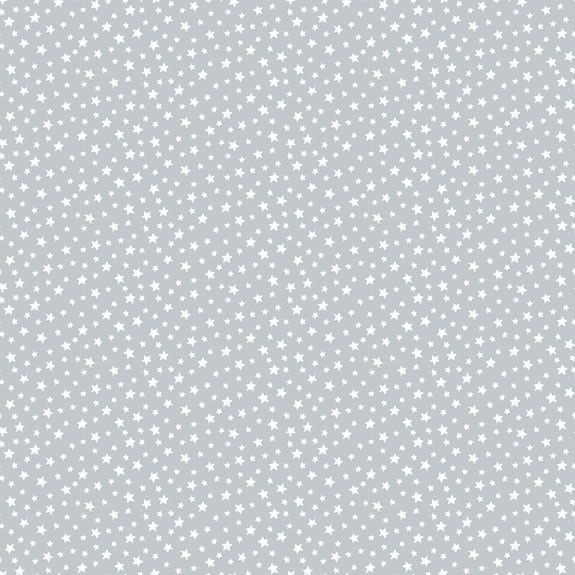 Makower Tiny Star Cotton Fabric Pewter