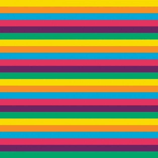 Cotton Jersey Fabric Stripe Brights