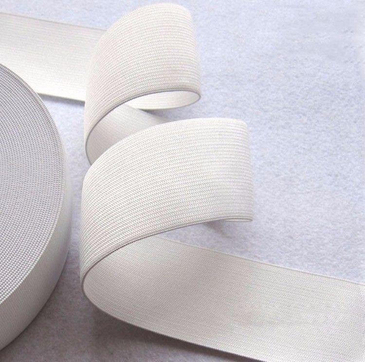 32mm White Elastic