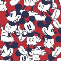 Disney Little Johnny Cotton Fabric Mickey Mouse Red