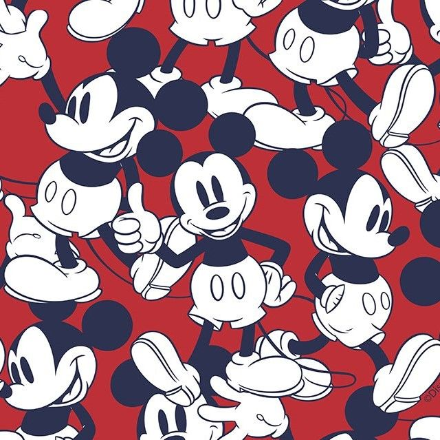 Little Johnny Cotton Fabric Mickey Mouse Red