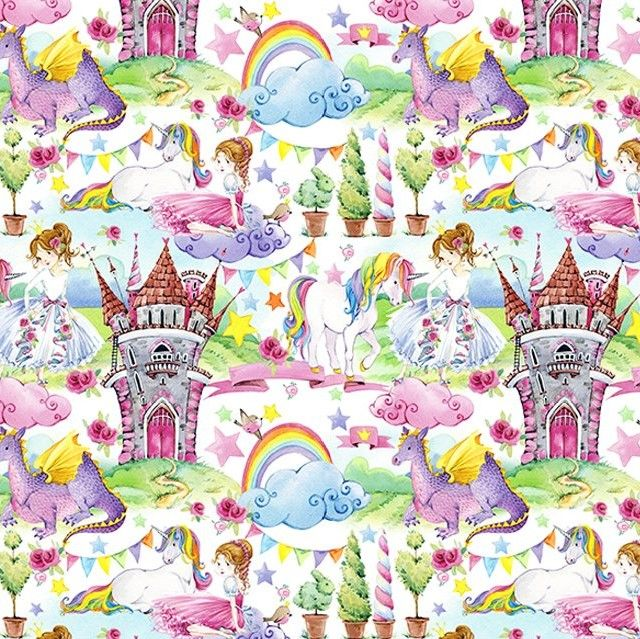 Little Johnny Cotton Fabric Fairytale Kingdom