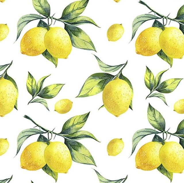 Little Johnny Cotton Fabric Lemons