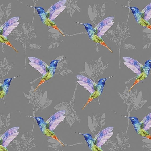 Little Johnny Cotton Fabric Hummingbirds