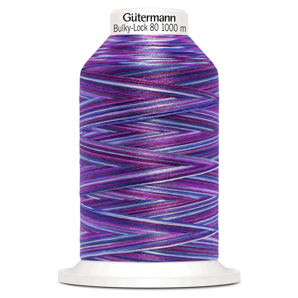 Gutermann Bulky-Lock 80 multicolour 1000m Purple Mix
