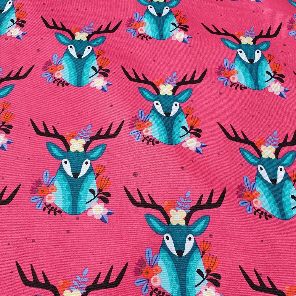 Cotton Twill Deer Pink