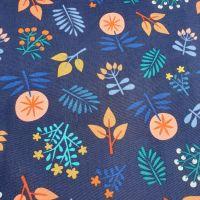 Cotton Canvas Navy Florals