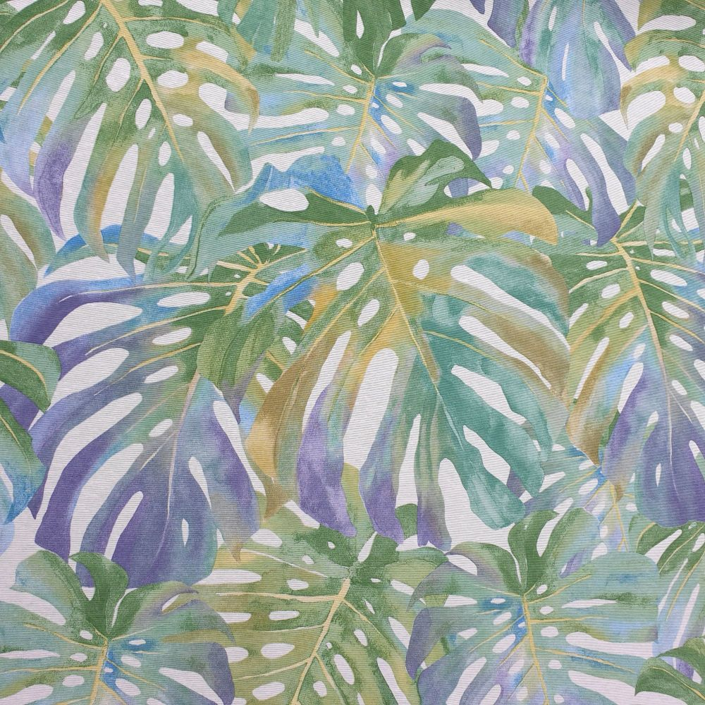 Cotton Canvas Tropical Leaves Spring