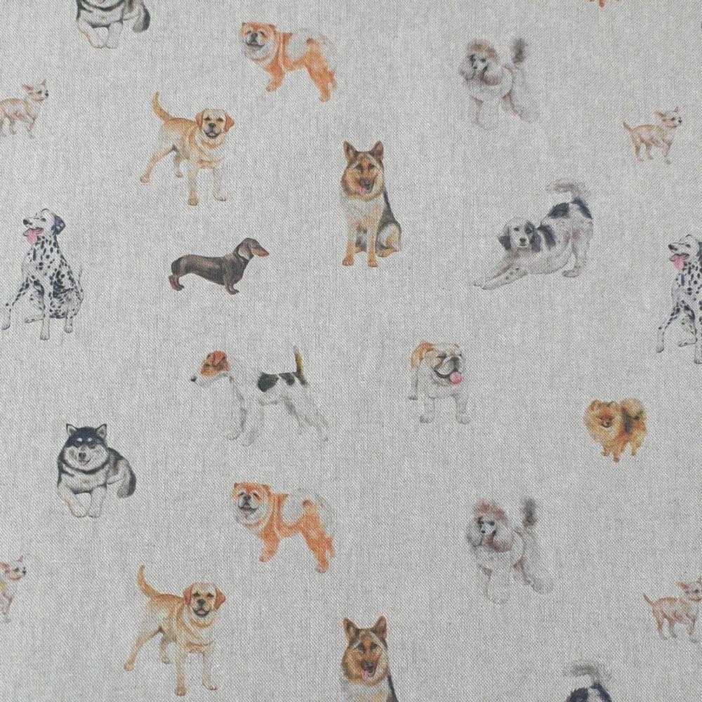 Cotton Canvas Linen Look Show Dogs
