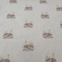 Cotton Canvas Linen Look Hedgehog
