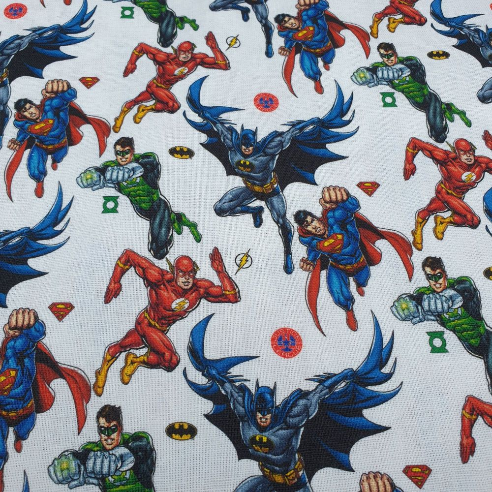 Disney Cotton Fabric Justice League Superheroes