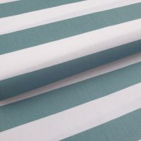 Cotton Poplin Stripes Mint on White