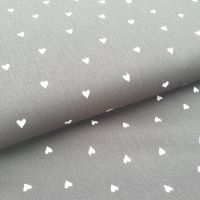 Brushed Cotton Poplin Hearts Black