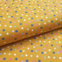Cotton Poplin Polka Dots Mustard