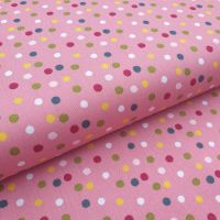 Cotton Poplin Polka Dots Pink