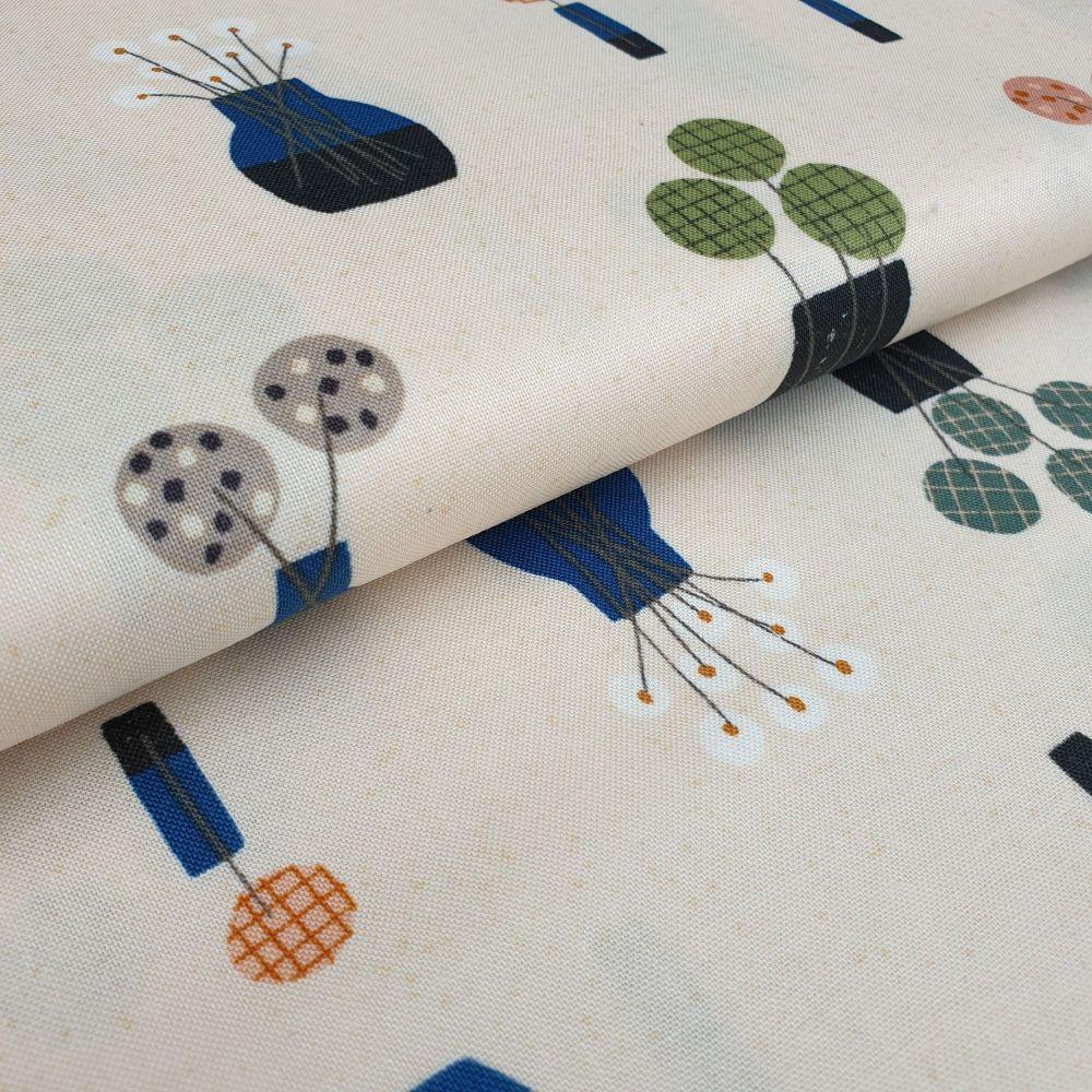 Makower Cotton Fabric Perennial 9565B