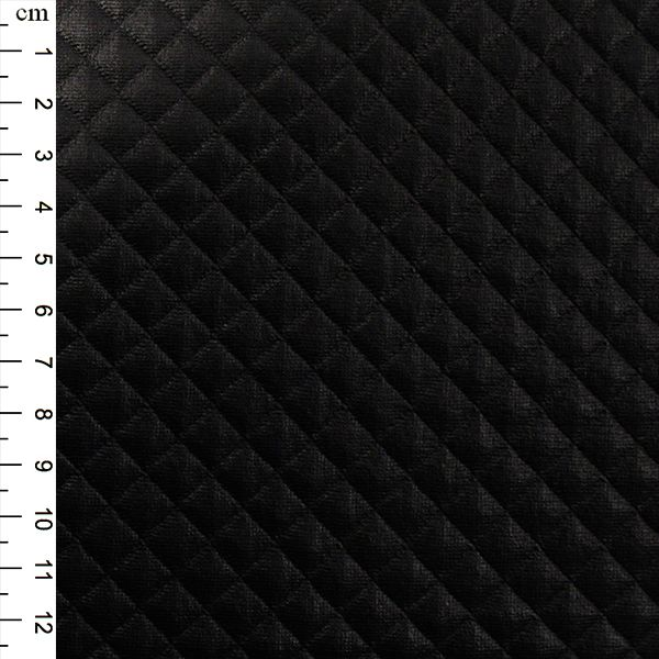 Quilted PU Fabric Black