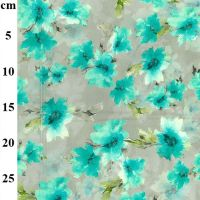 Turquoise Cotton Lawn Fabric