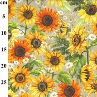 Sunflower Cotton Canvas Fabric