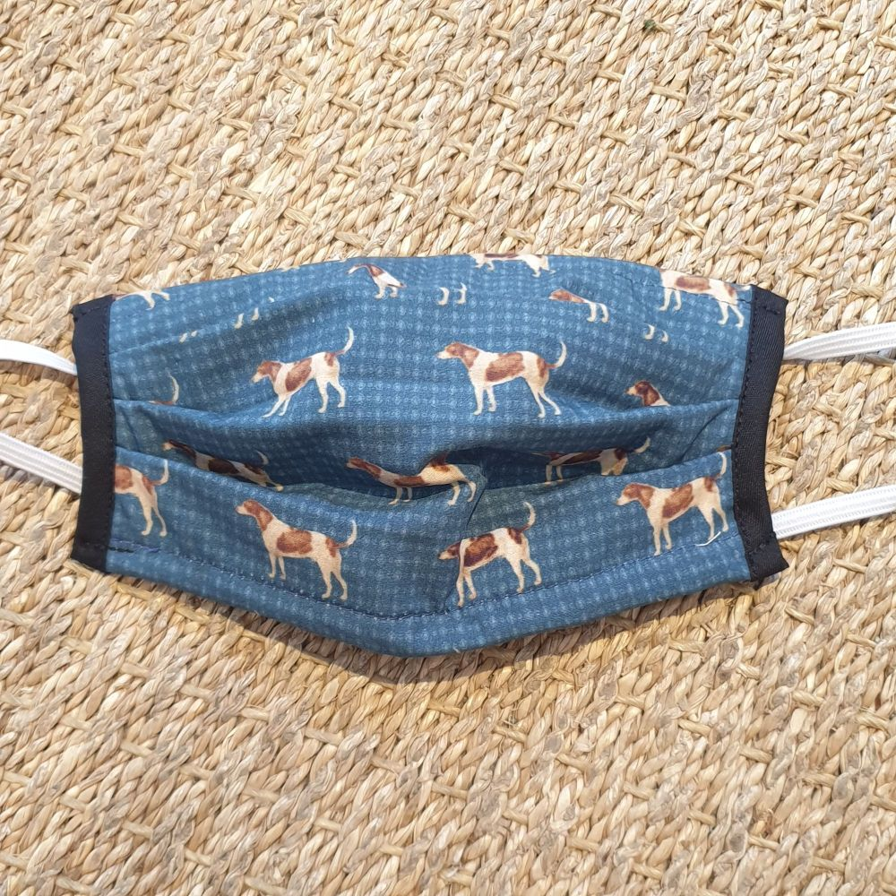 Adults Reusable Face Mask Dogs on Blue