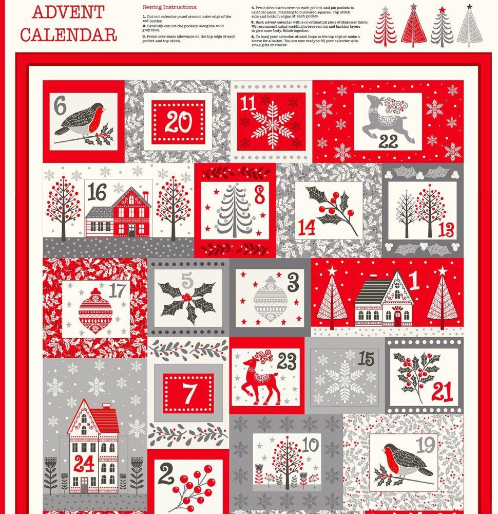 Makower Scandi Cotton Fabric Advent Calendar