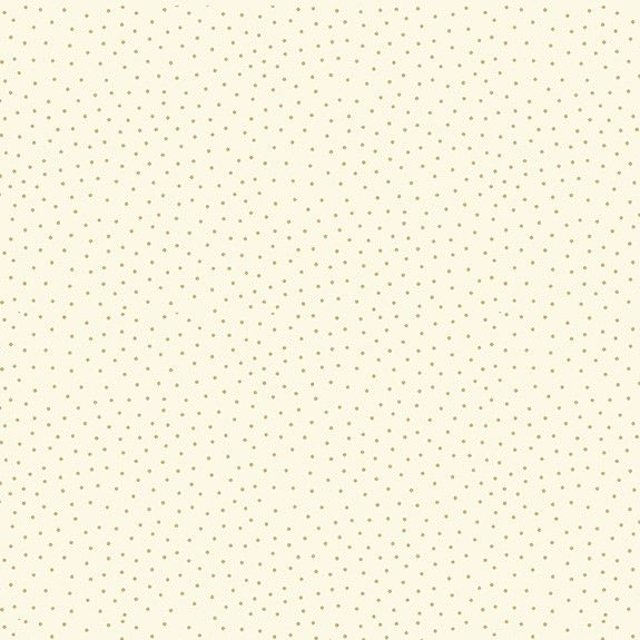 Makower Yuletide Cotton Fabric Spot Cream