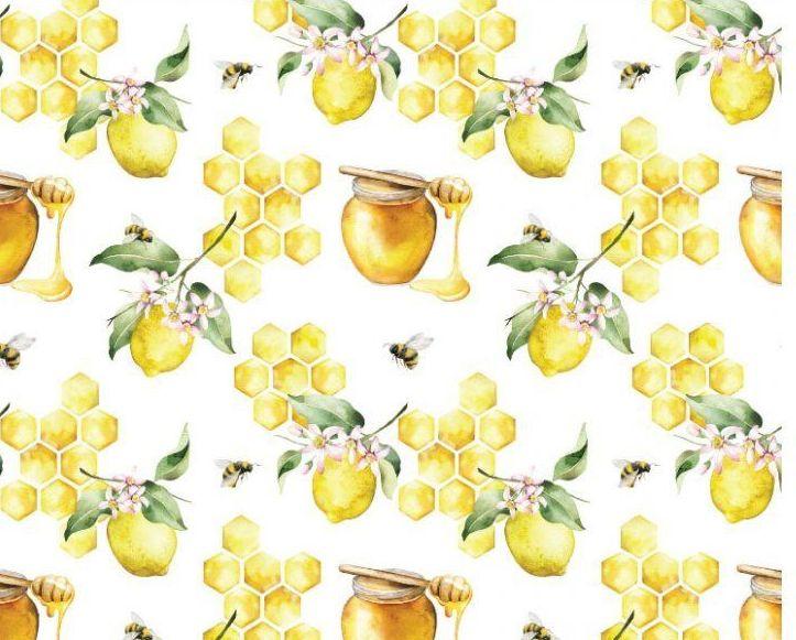 Little Johnny Cotton Fabric Honeycombe Lemons
