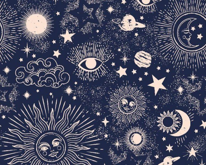 Little Johnny Cotton Fabric Zodiac Galaxy