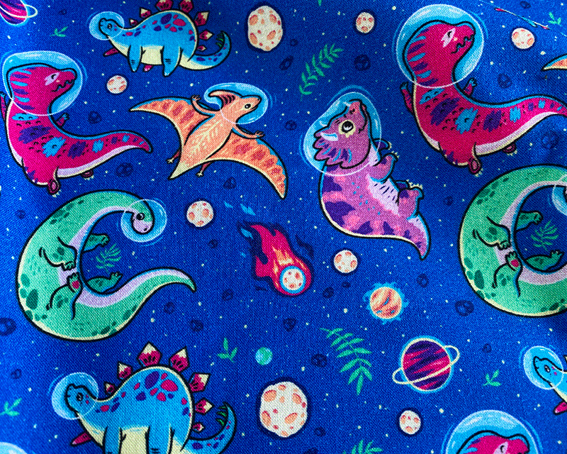 Little Johnny Cotton Fabric Dino Space