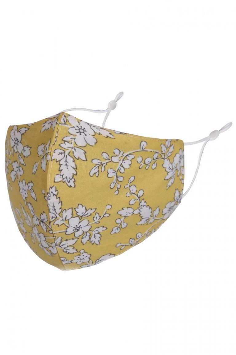 Face Mask Yellow Floral
