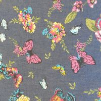 Denim Chambray butterflies