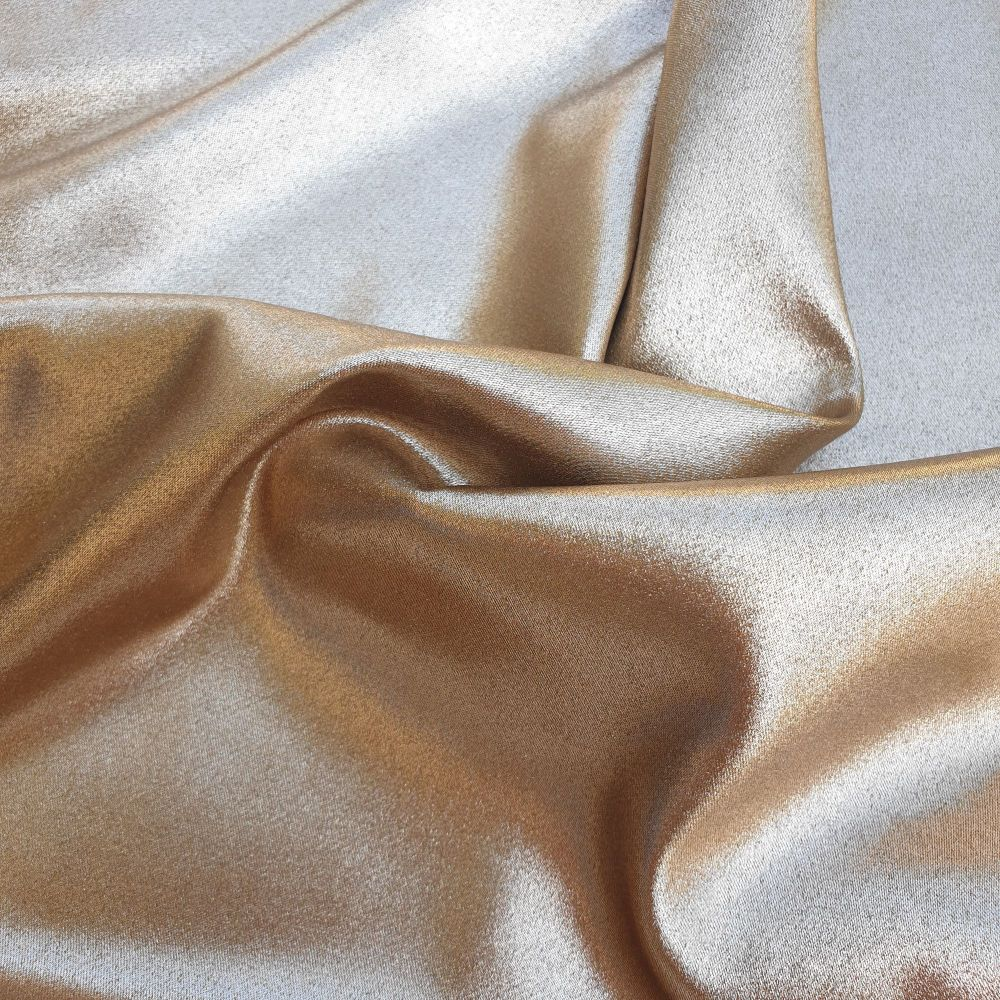 Stretch Satin Fabric Gold