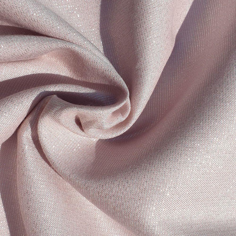 Metallic Viscose Fabric Baby Pink