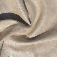 Metallic Linen Viscose Fabric Beige