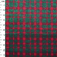 Christmas Cotton Lurex Fabric Check Green