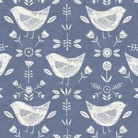 Narvic Cotton Canvas Fabric Birds