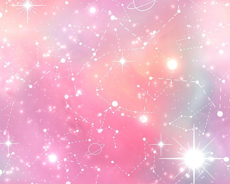 Little Johnny Cotton Fabric Pink Galaxy