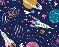 Little Johnny Cotton Fabric Kids Space