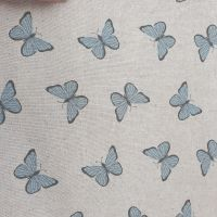 Pop Art Linen Look Butterflies Cotton Canvas Fabric