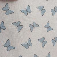 Pop Art Linen Look Butterflies Cotton Canvas Fabric