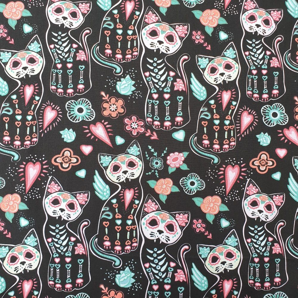 Halloween Cotton Fabric Cats