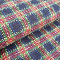 Tartan Flannel Cotton Fabric Navy/Red
